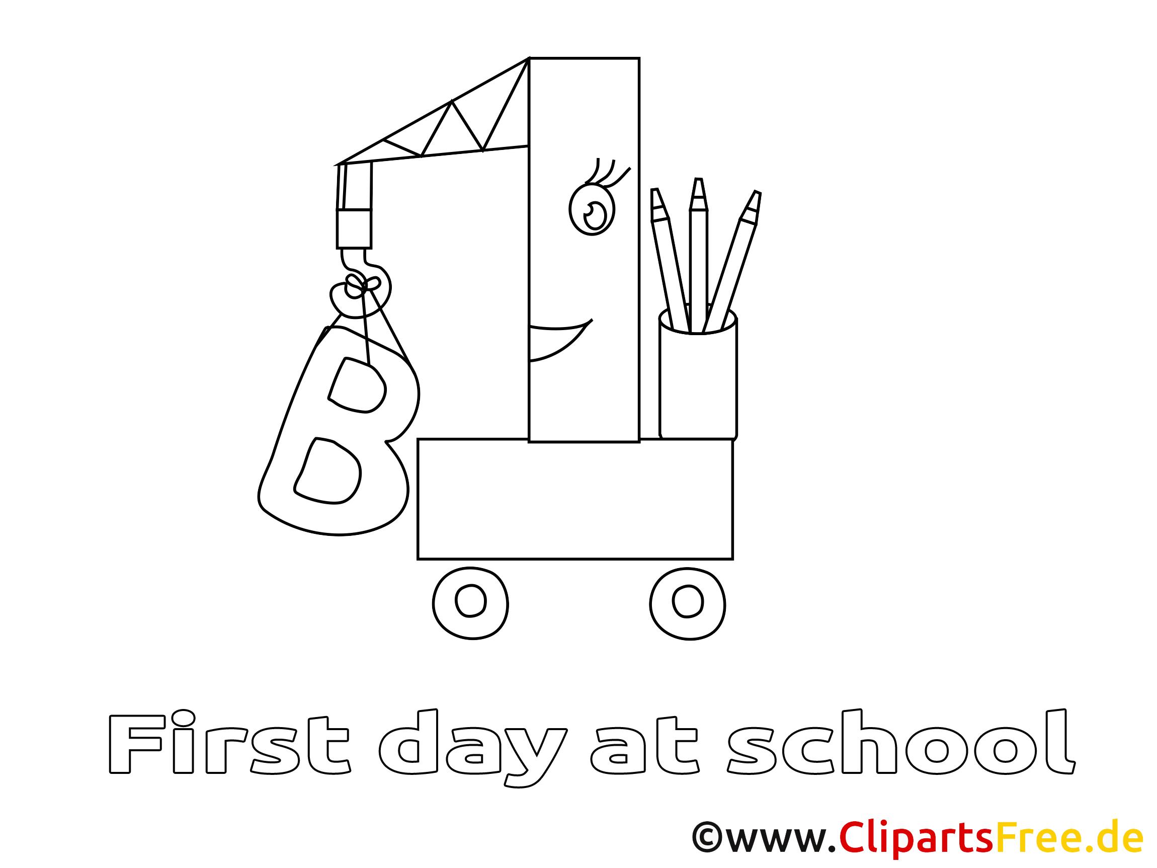Image à télécharger école – Élémentaire à colorier
