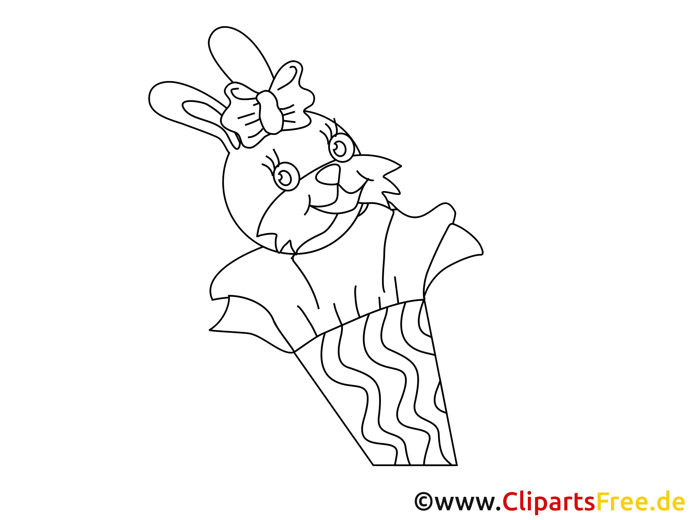 Lapin illustration – Élémentaire à imprimer