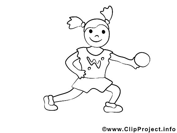 Balle clip art gratuit – Sport à colorier