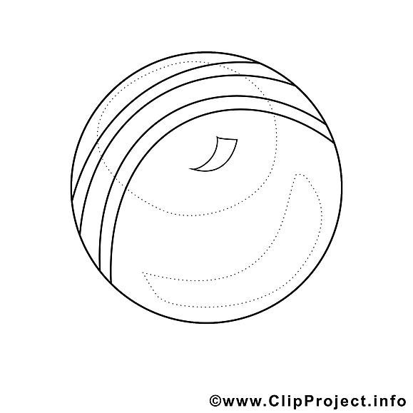 Balle clip art gratuit – Sport à imprimer