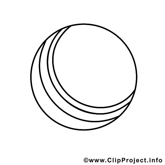 Balle dessin – Coloriage sport à télécharger