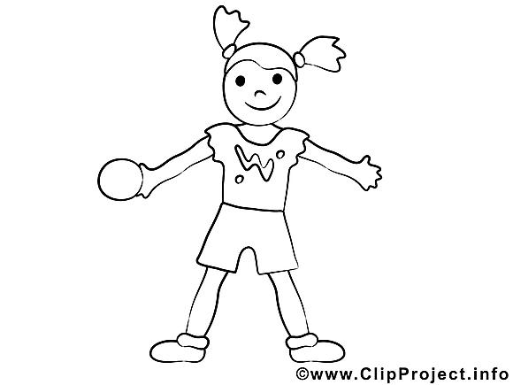 Balle image – Sport images à colorier