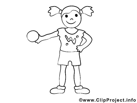 Balle image gratuite – Sport à imprimer