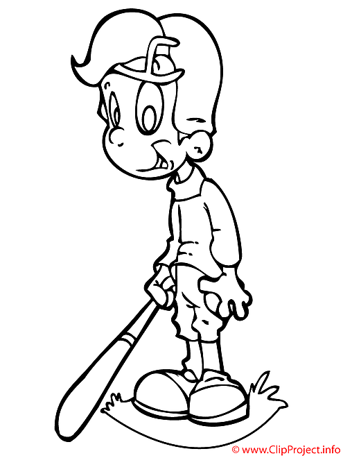 Base-ball coloriage