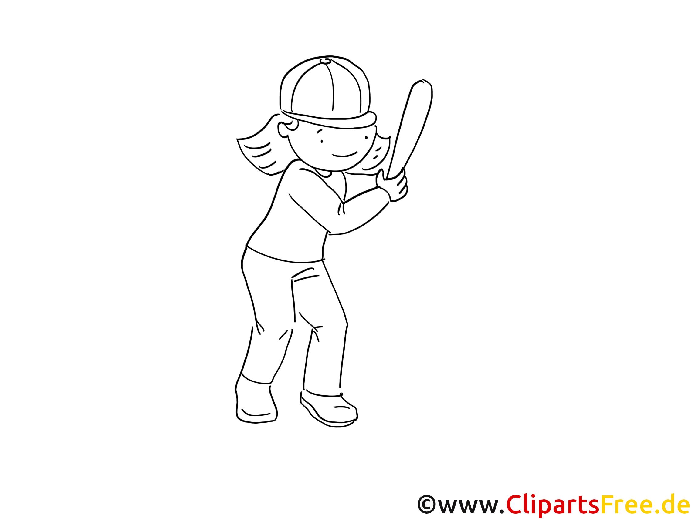 Base-ball dessin – Sport gratuits à imprimer