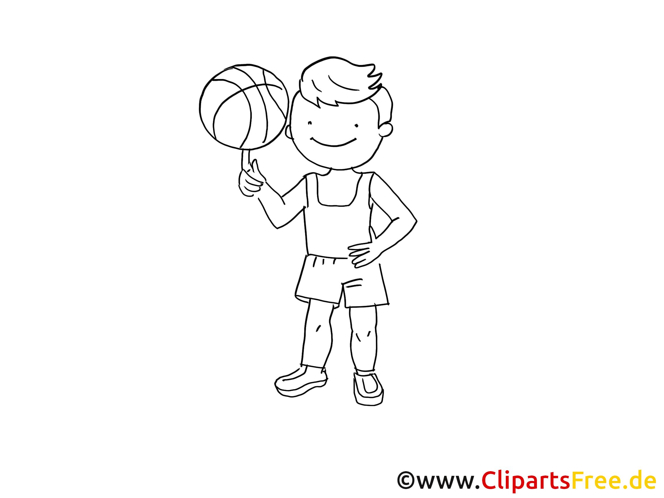 Basket clip art gratuit – Sport à imprimer