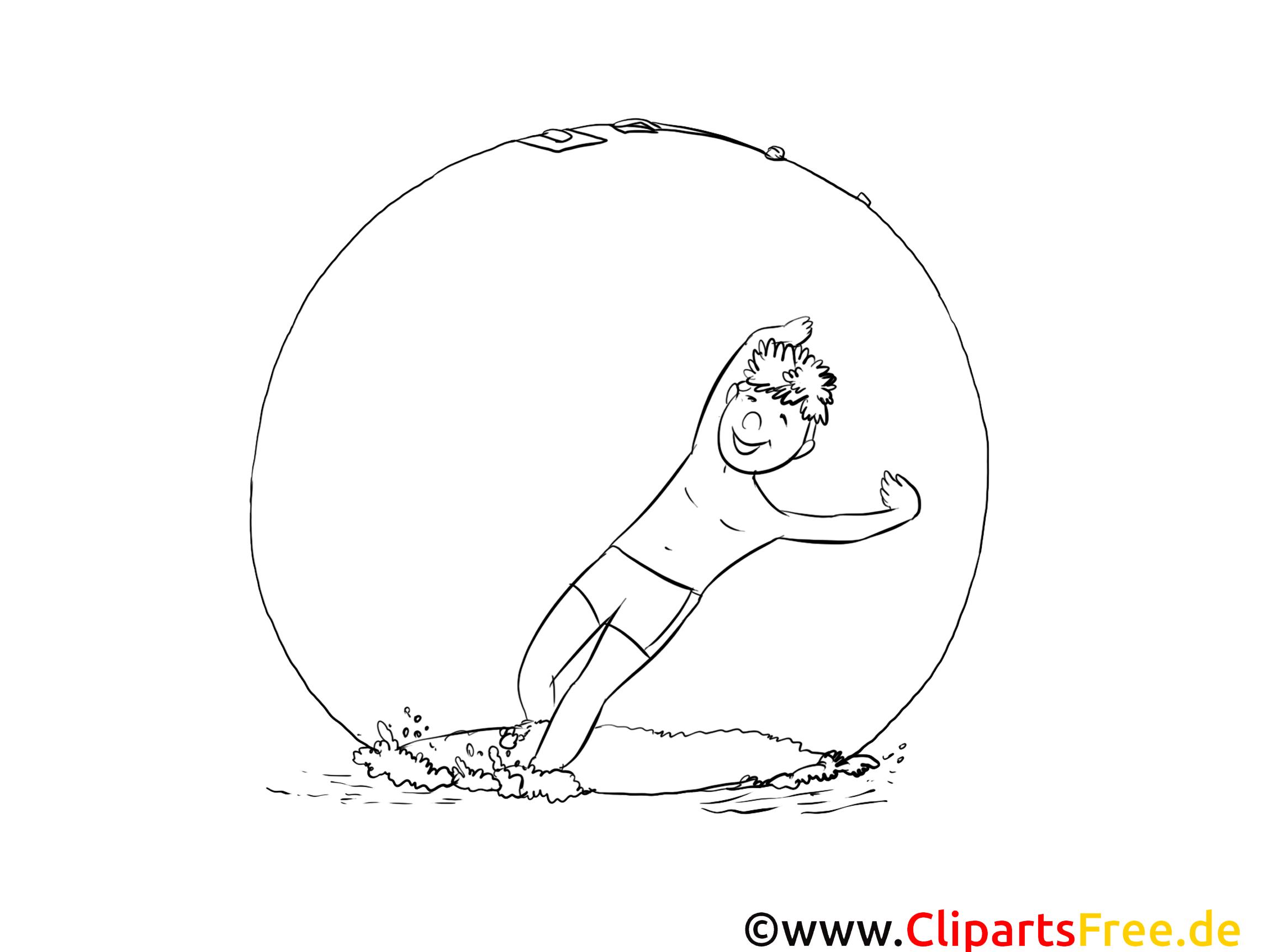 Coloriage sport illustration à télécharger