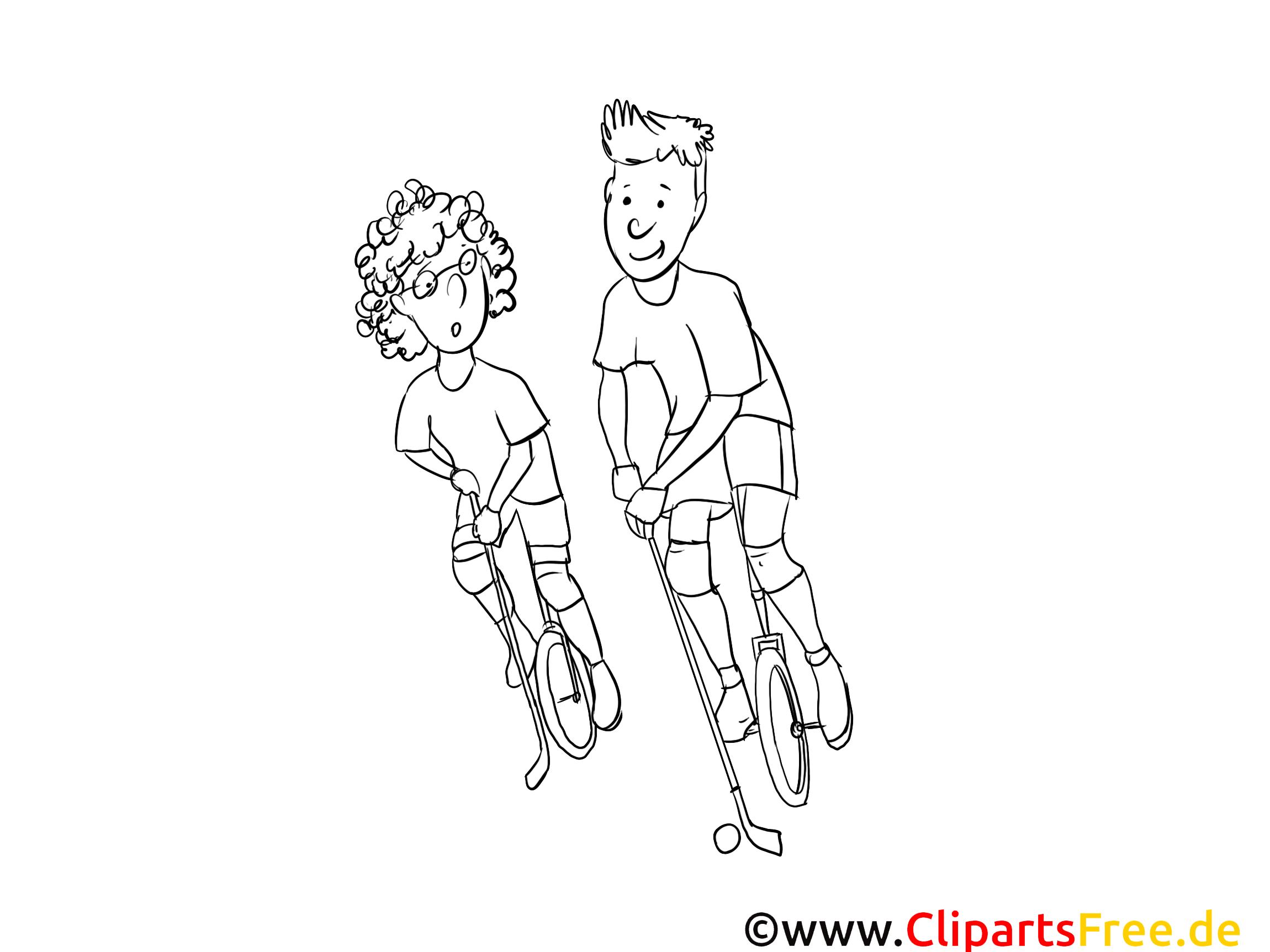 Coloriage unicycles sport illustration à télécharger