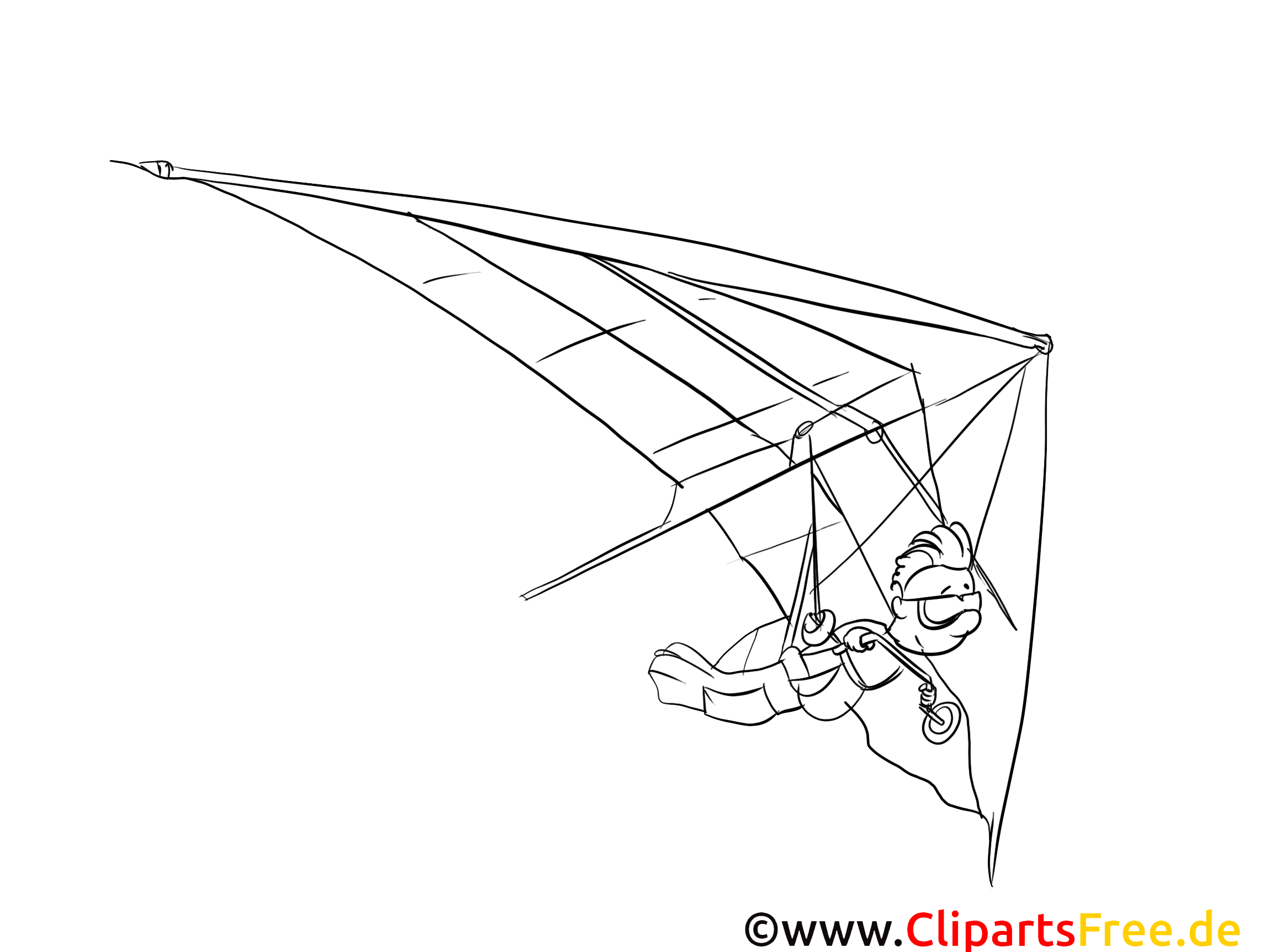 Deltaplan clip art – Sport image à colorier