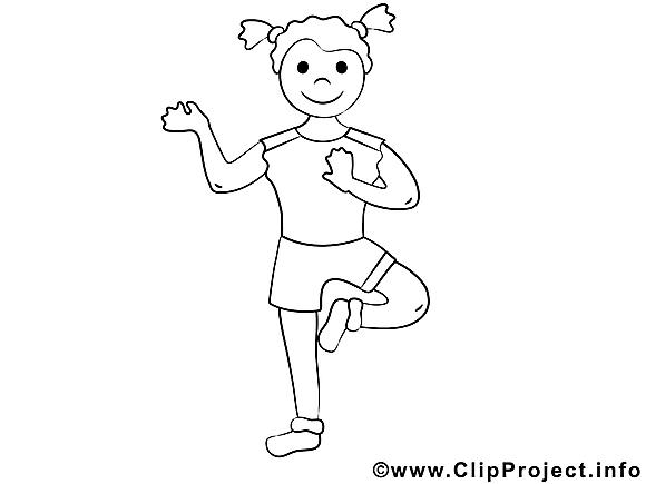 Fitness image gratuite – Sport à colorier
