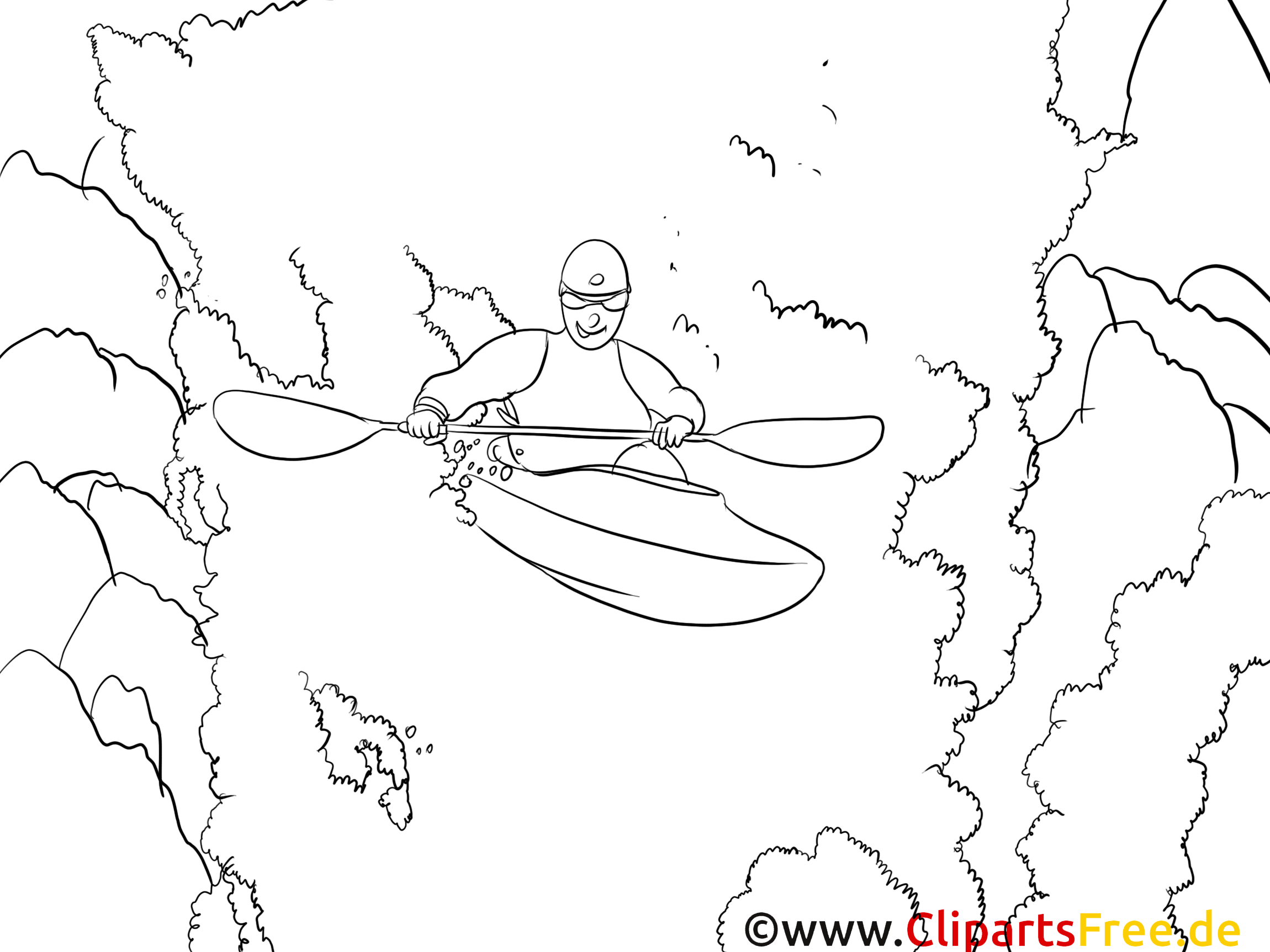 Kayak illustration – Sport à imprimer