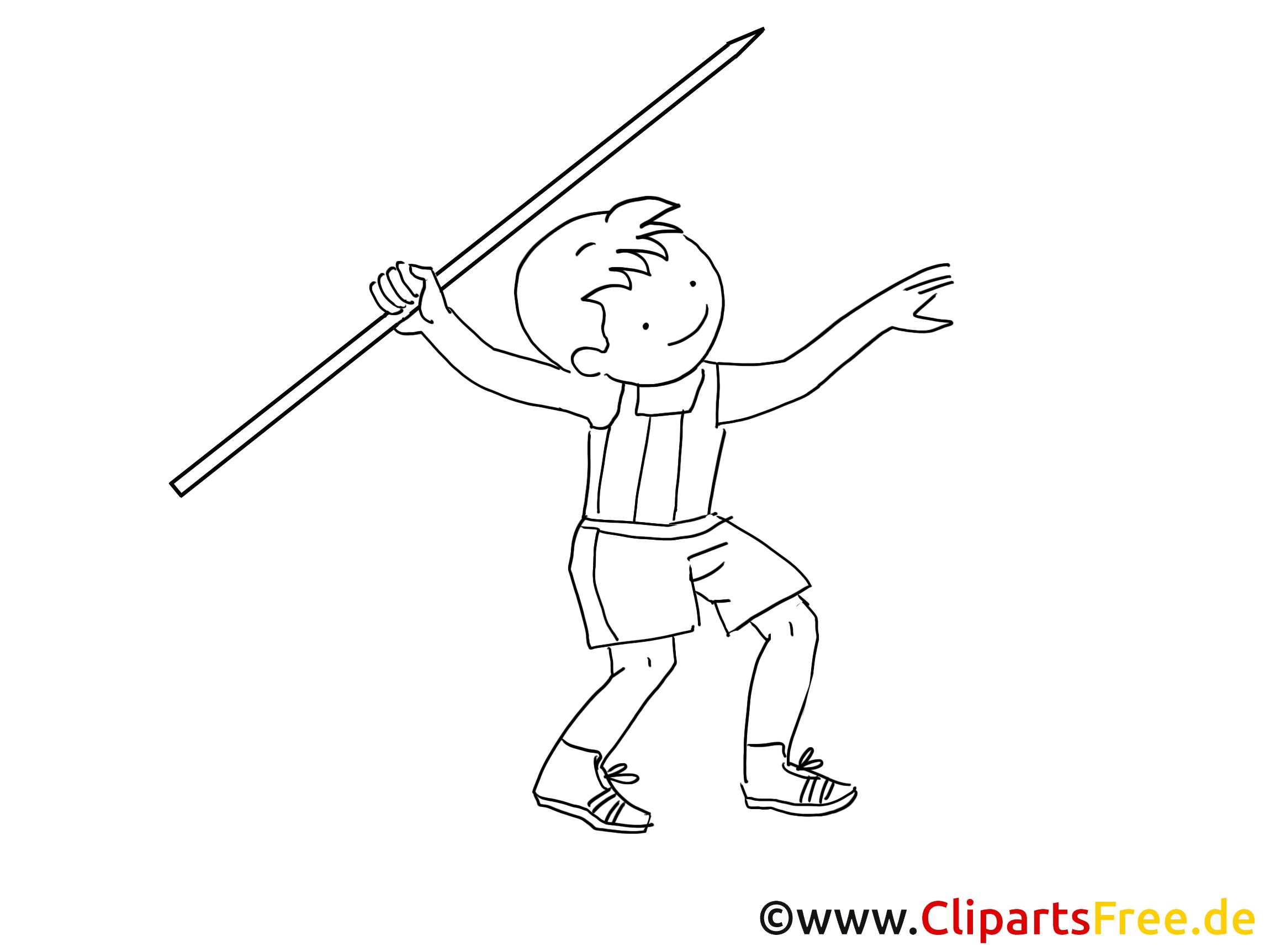 Lancer du javelot image – Sport images à colorier