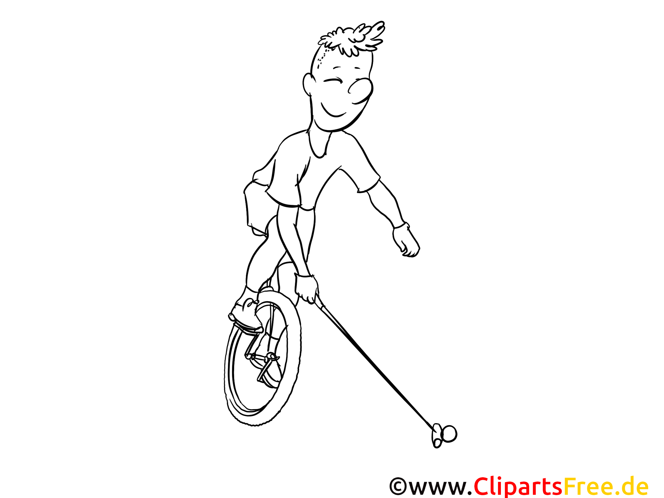 Monocycle image – Sport images à colorier