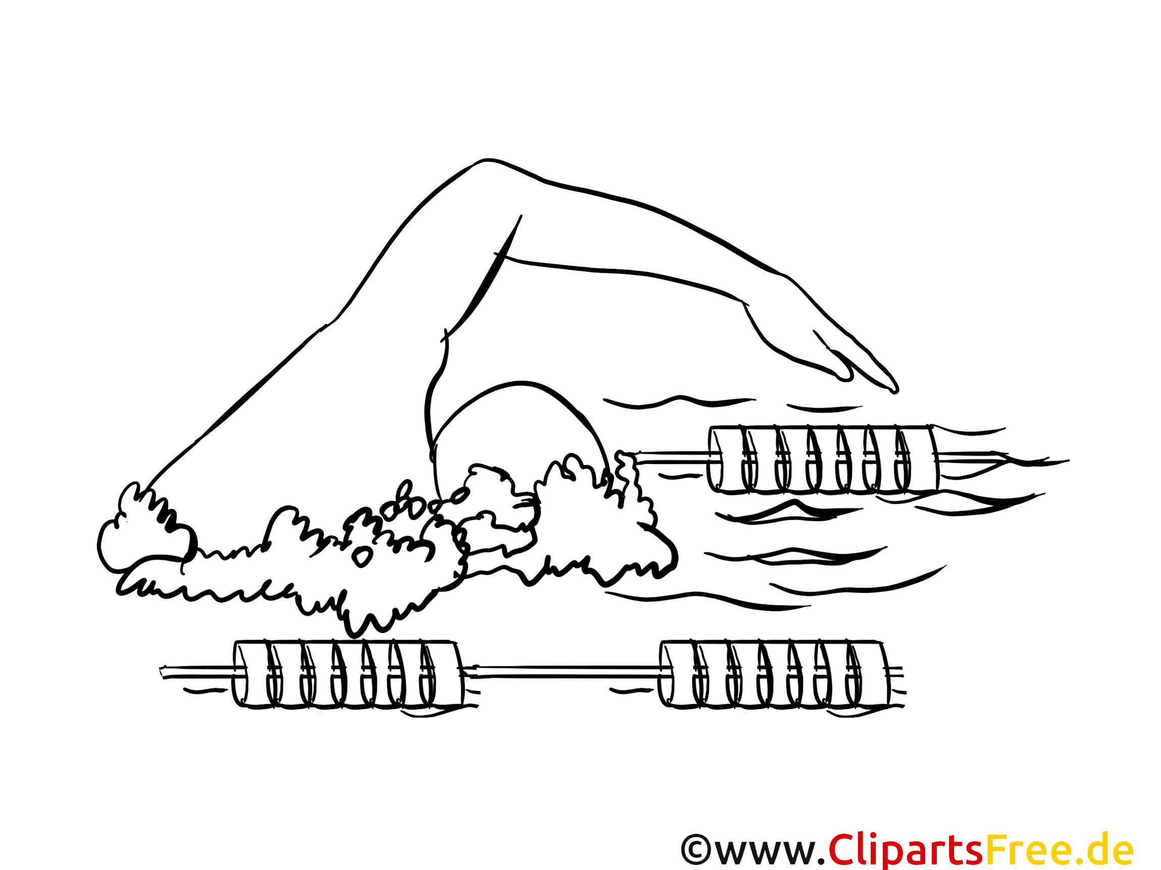 Natation illustration – Sport à imprimer