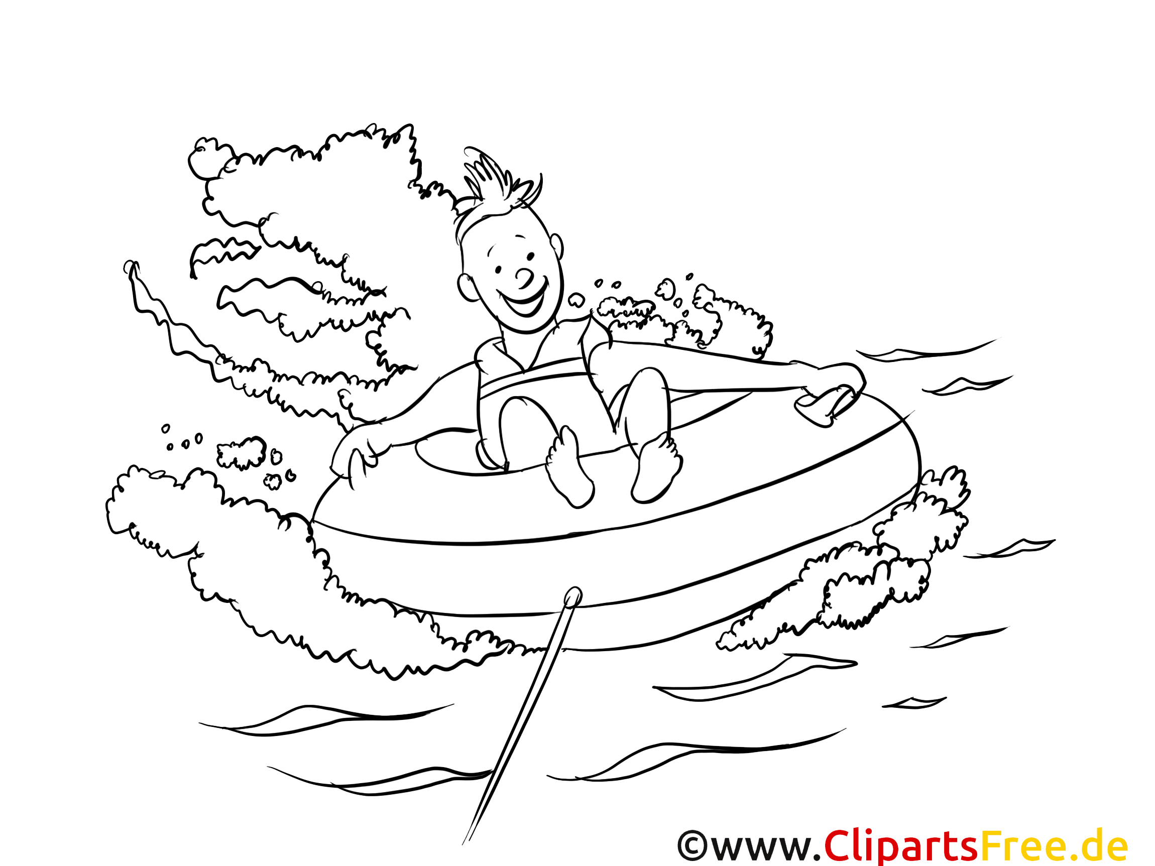 Nautique dessin gratuit – Sport à colorier