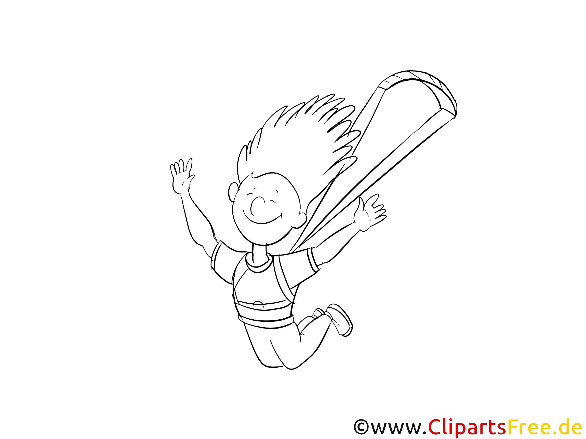 Parachute dessin à télécharger – Sport à colorier