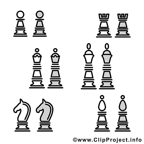 Pièces échecs illustration – Sport à imprimer