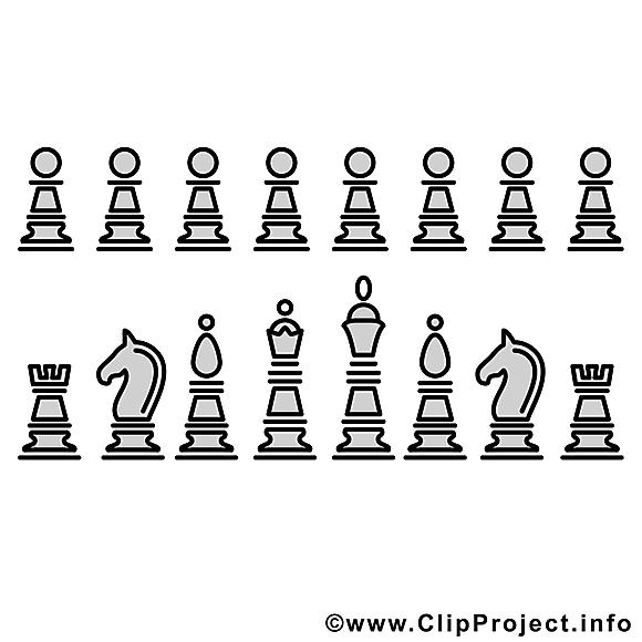 Pièces échecs images gratuites – Sport à colorier