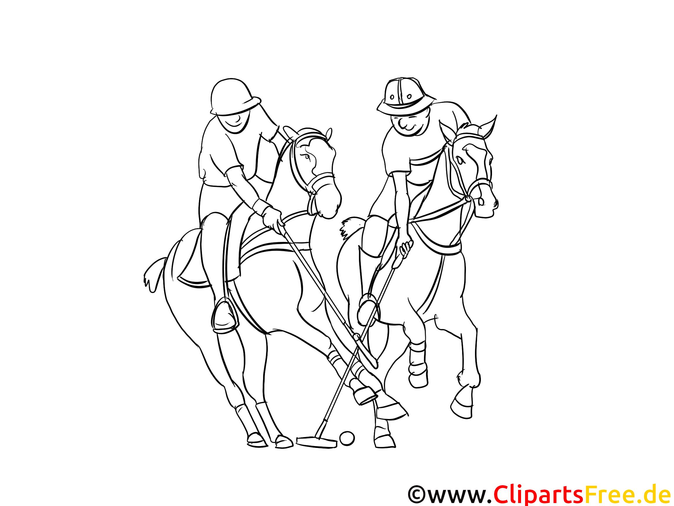 Polo image à télécharger – Sport à colorier