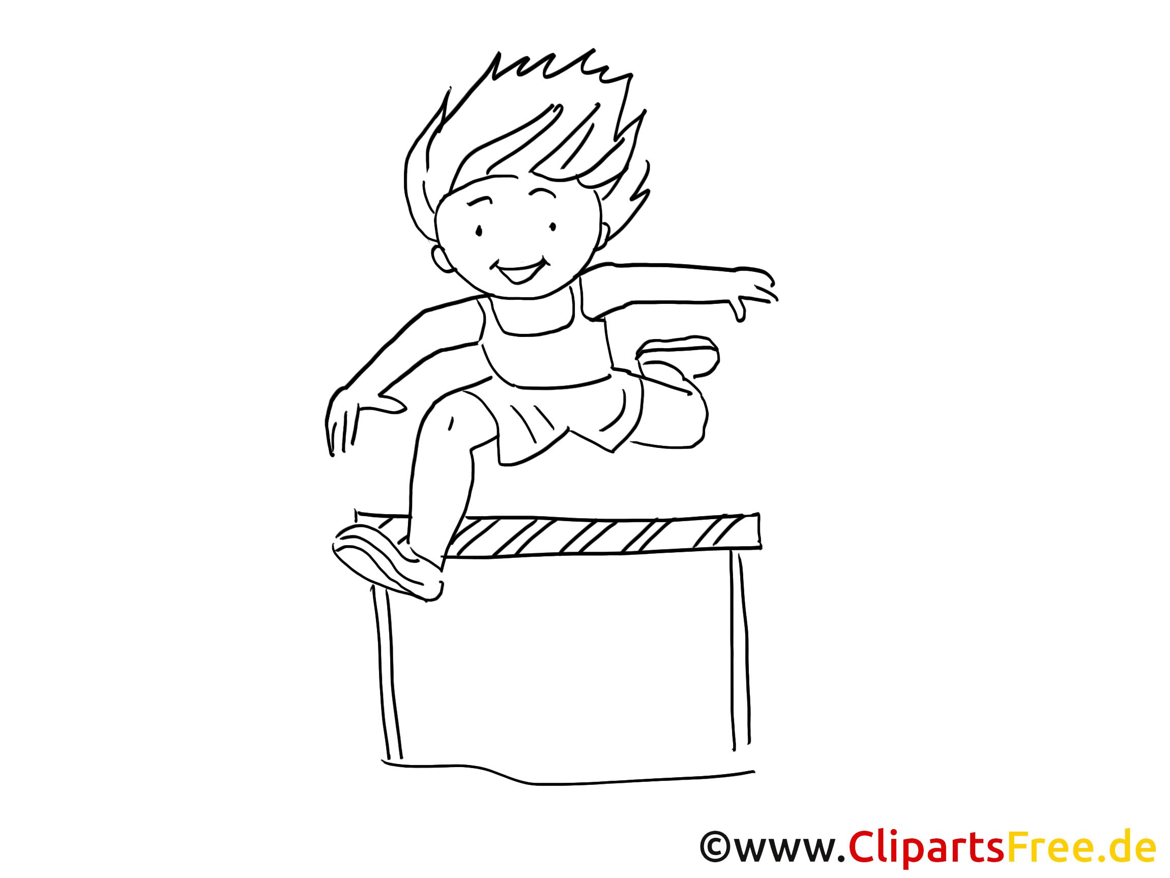 Sautes clip art gratuit – Sport à colorier