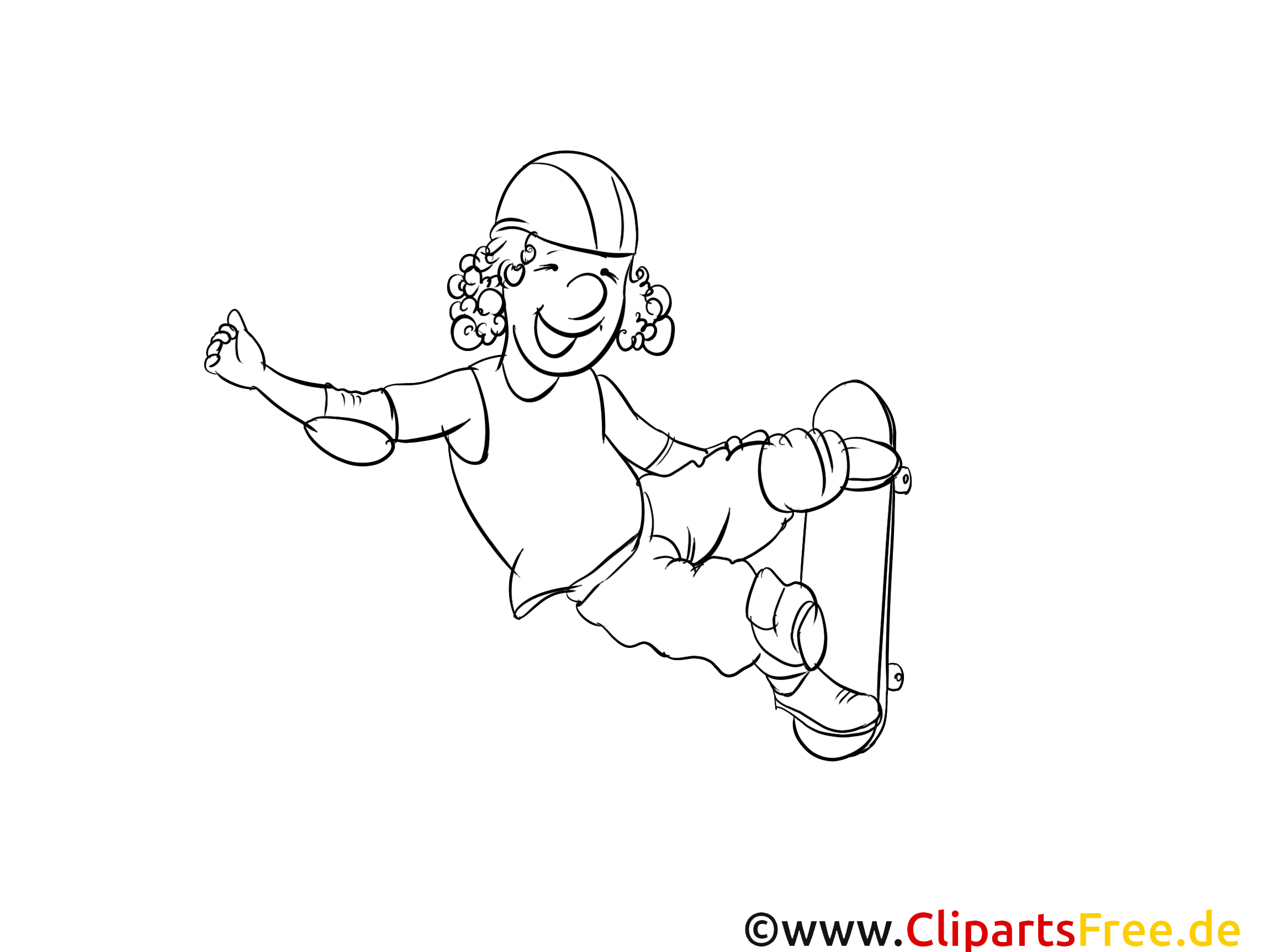Skateboard dessin – Coloriage sport à télécharger
