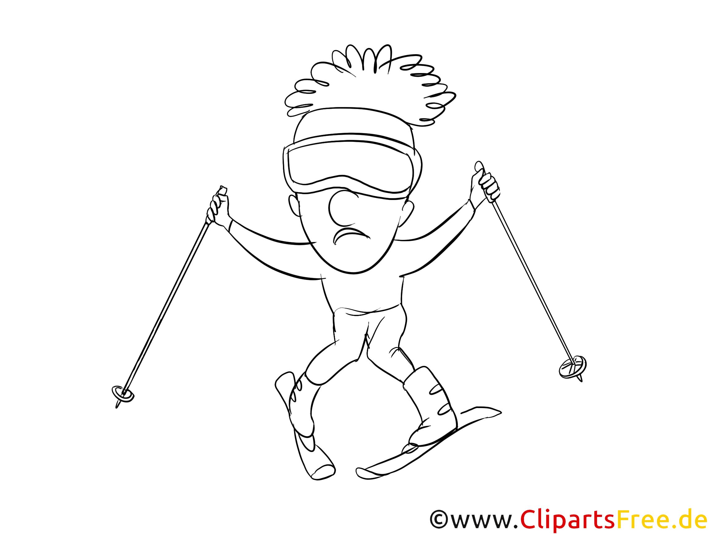 Ski image – Coloriage sport illustration