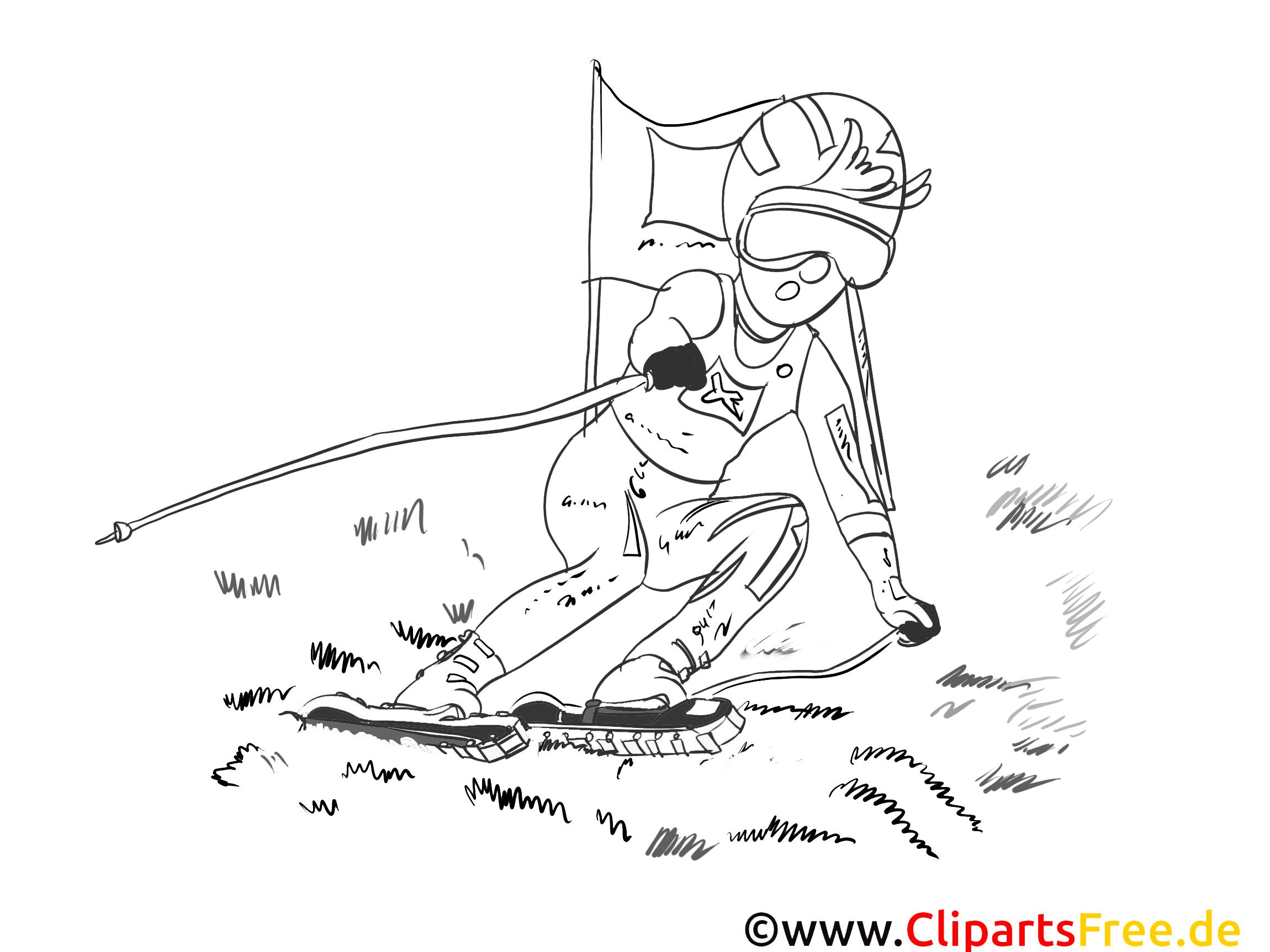 Ski images gratuites – Sport à colorier