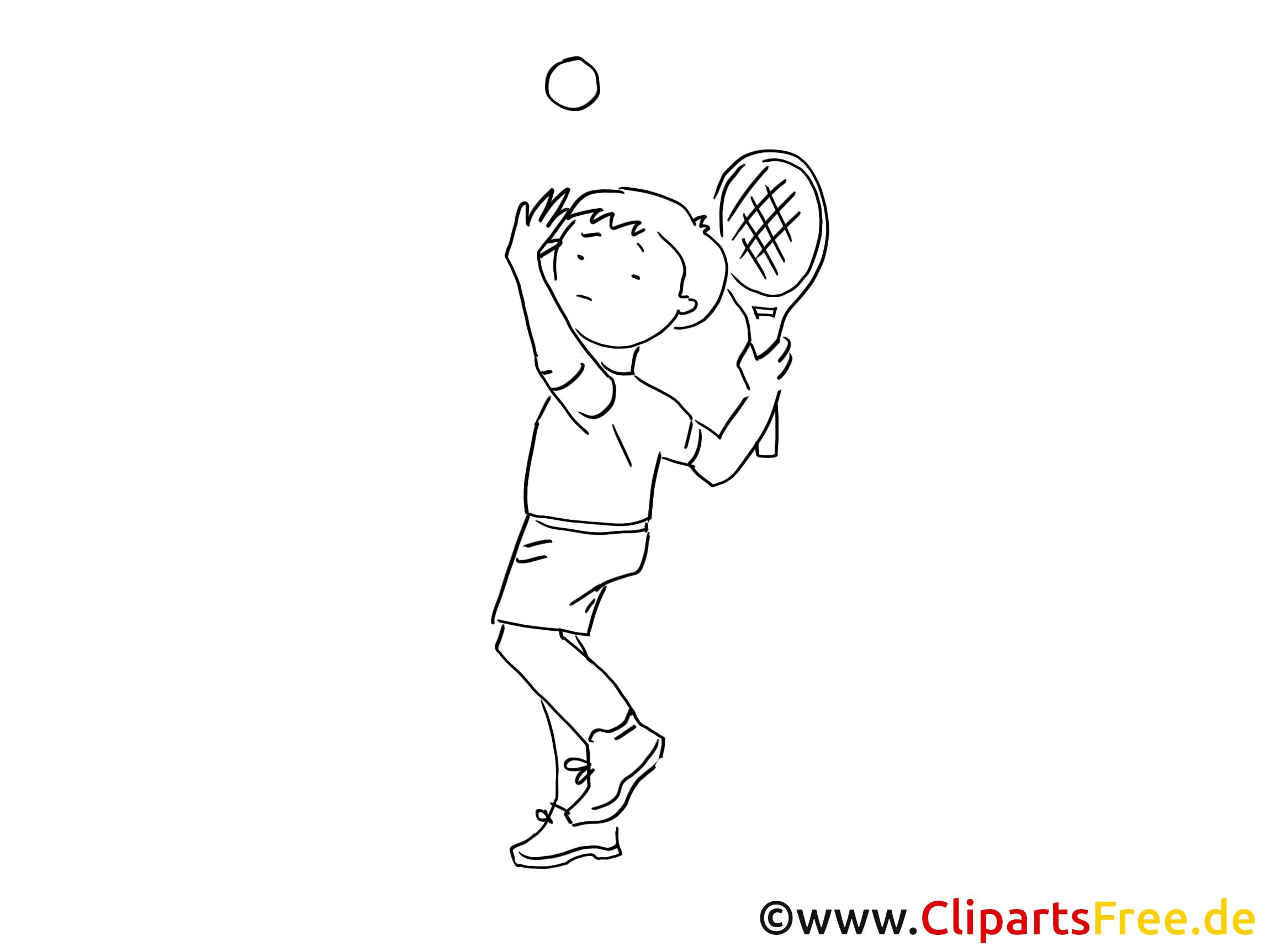 Tennis dessin – Coloriage sport à télécharger