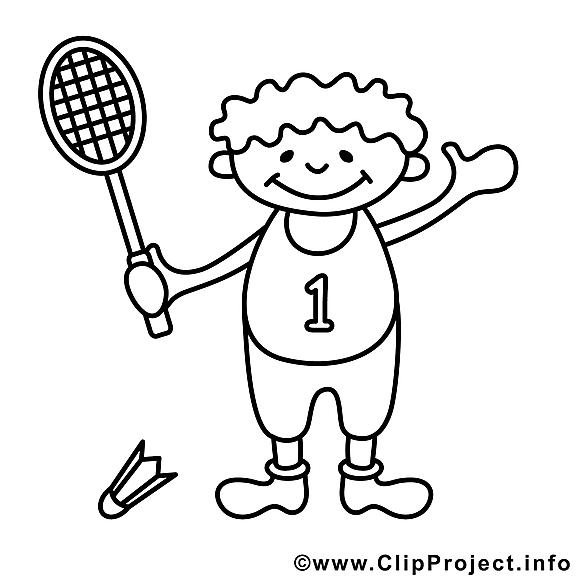 Tennis image à télécharger – Sport à colorier