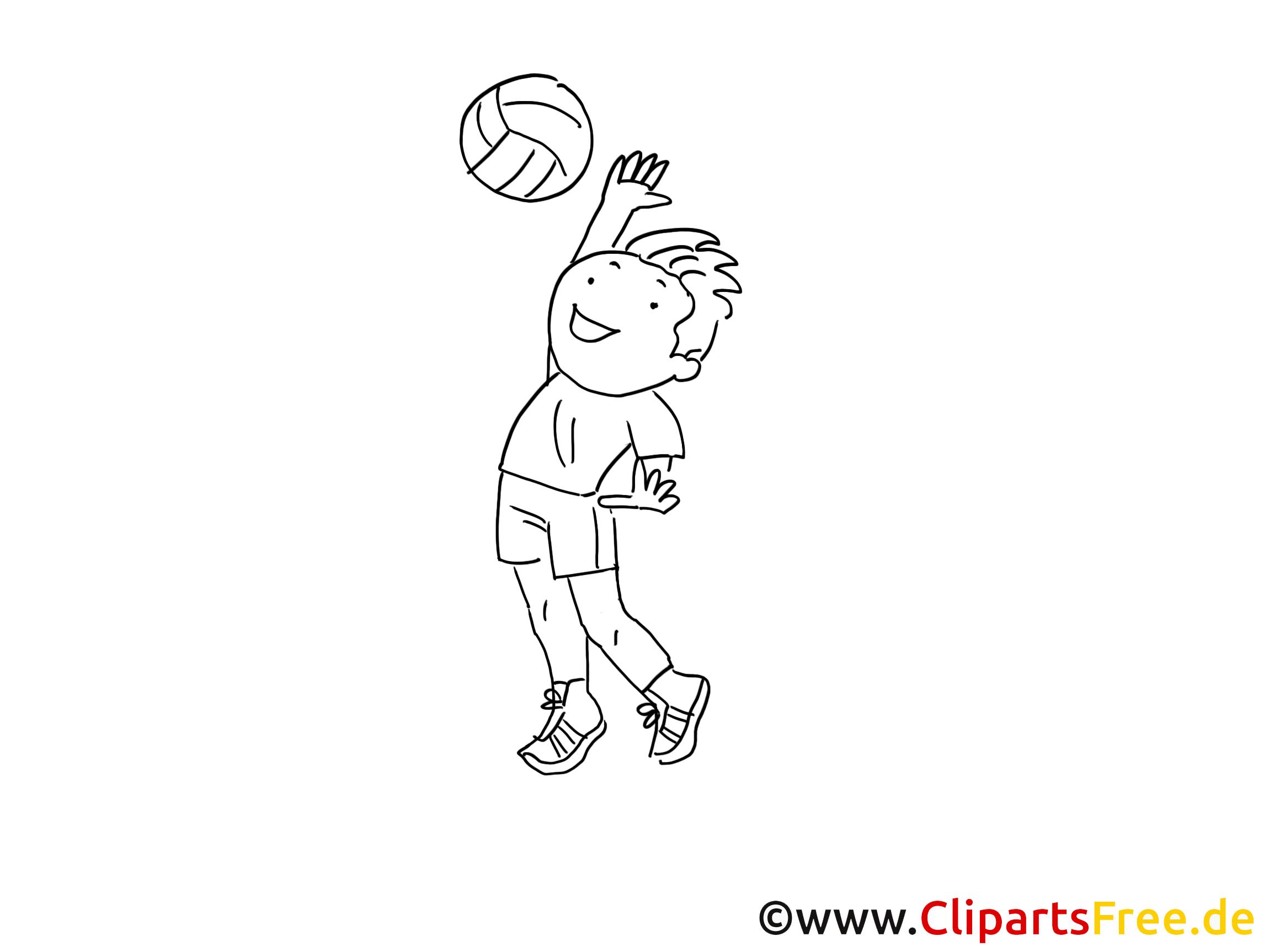 Volley-ball dessin – Coloriage sport à télécharger
