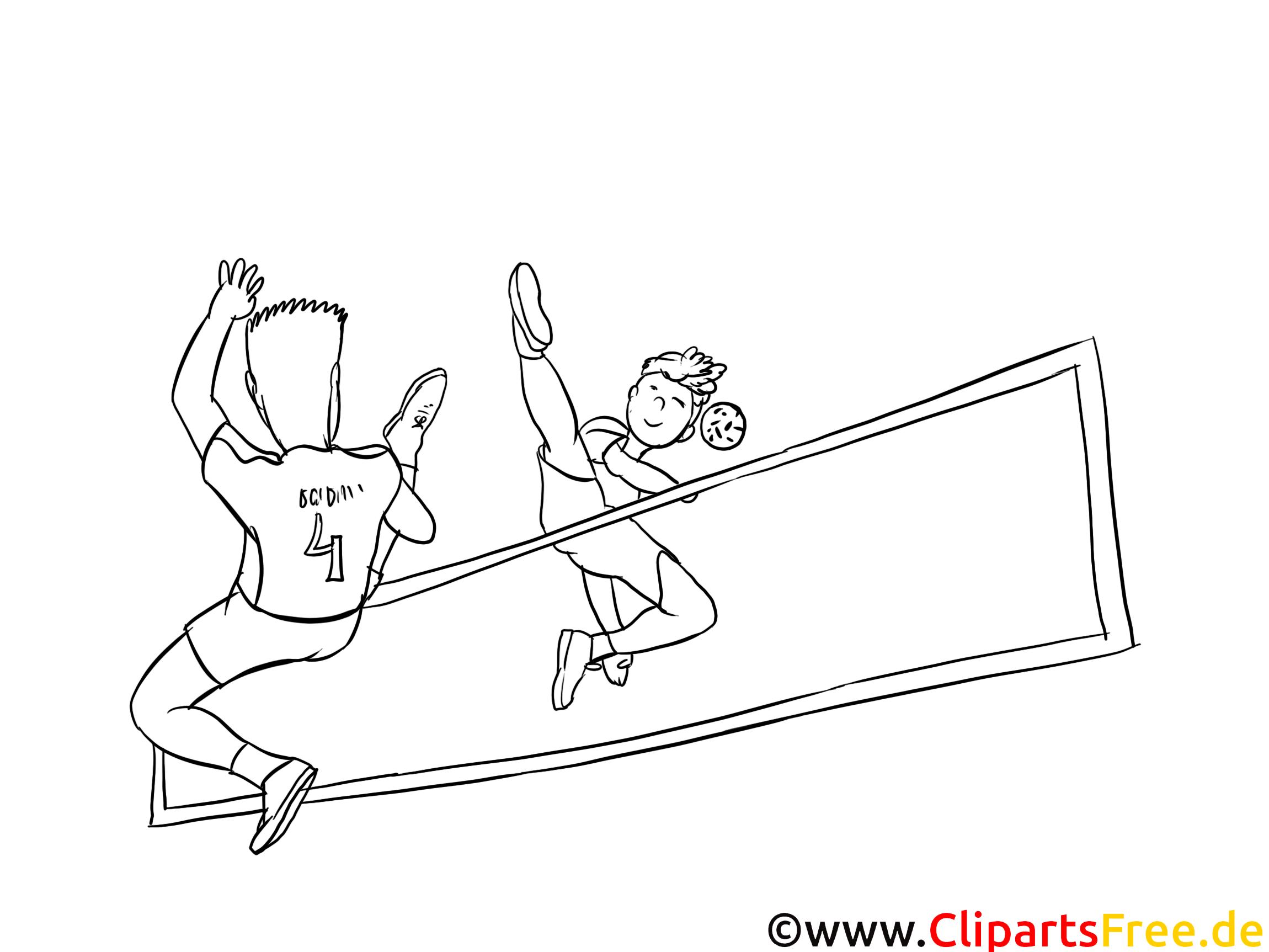 Volley-ball dessin – Sport gratuits à imprimer