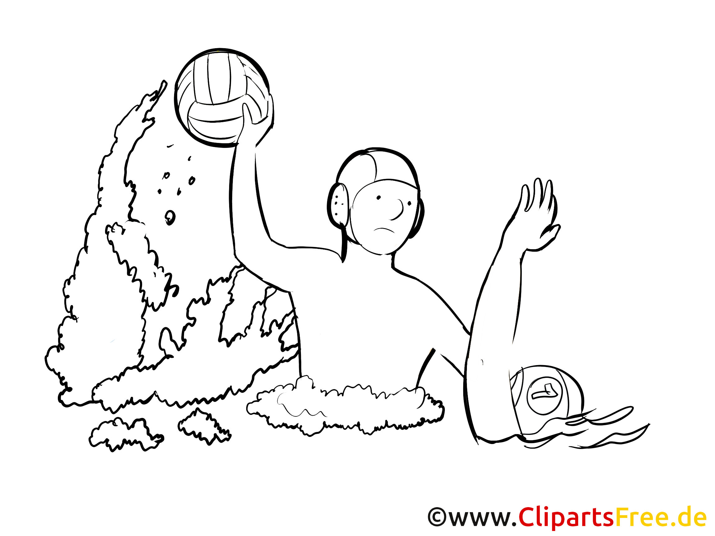 Water-polo illustration – Sport à imprimer