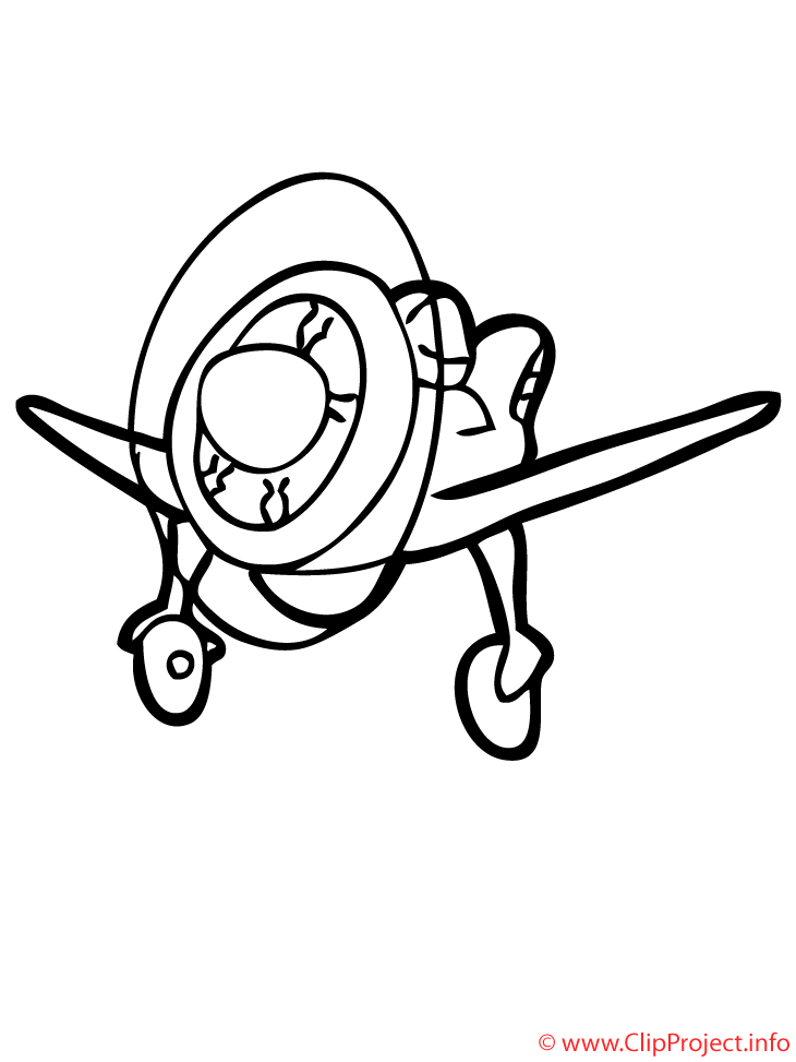 Coloriage avions cliparts illustration