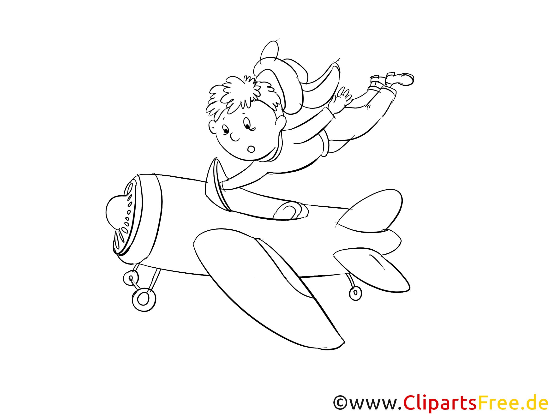 Garçon clip arts – Avions à imprimer