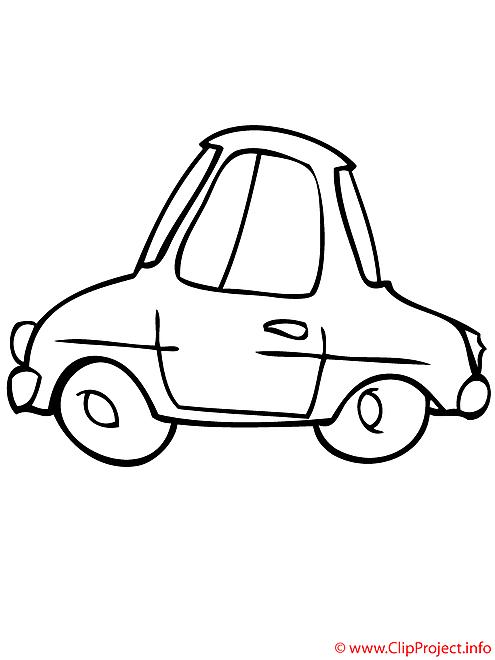 La voiture a deux places coloriage