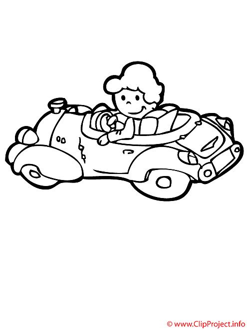 La voiture d'enfant coloriage