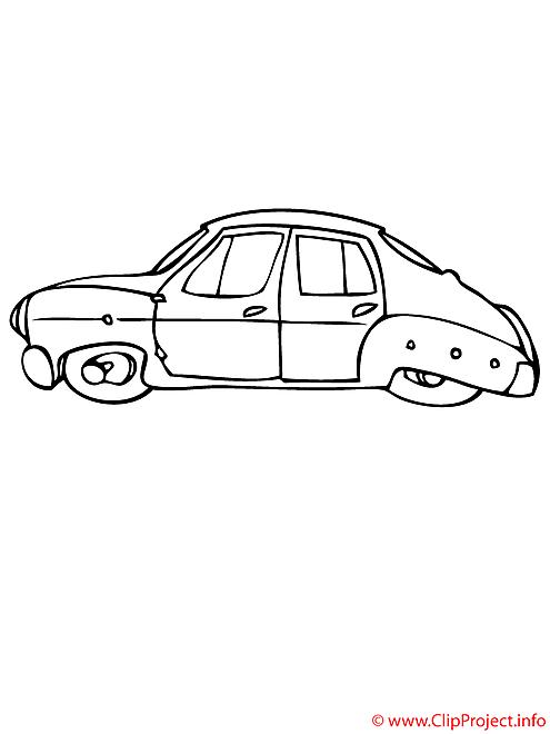 La voiture moderne coloriage