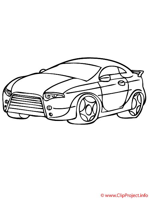 La voiture sportive coloriage
