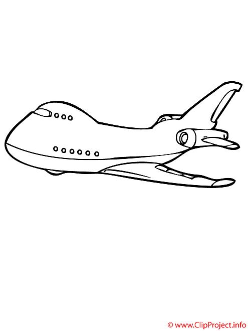 L'aeroplane de voyageurs coloriage