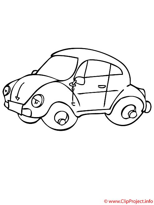 L'automobile-scarabee coloriage