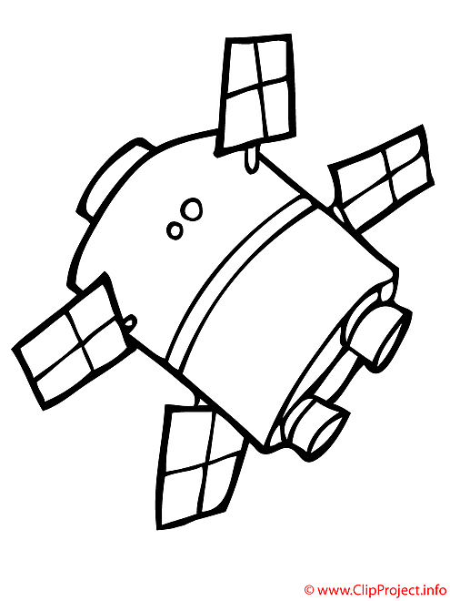 Le navire spatial coloriage