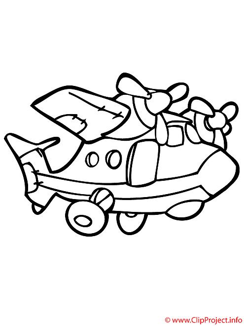 Le transport par avion coloriage