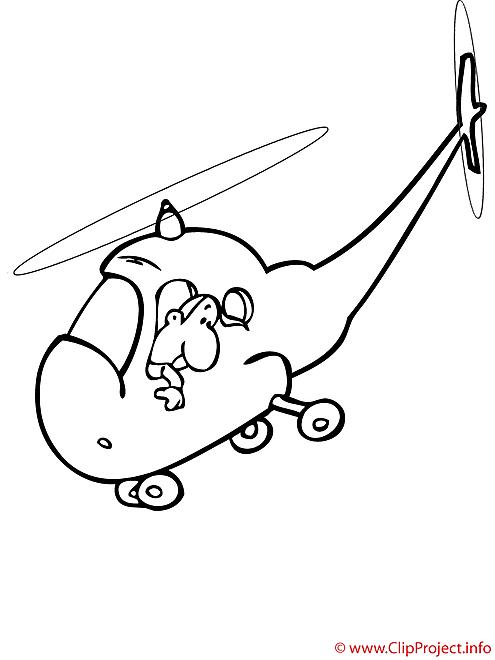 L'helicoptere de voyageurs coloriage