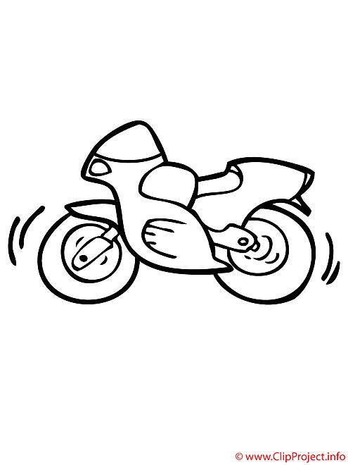Motocyclette coloriage