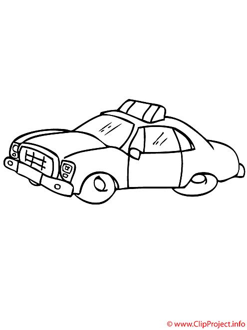 Taxi coloriage
