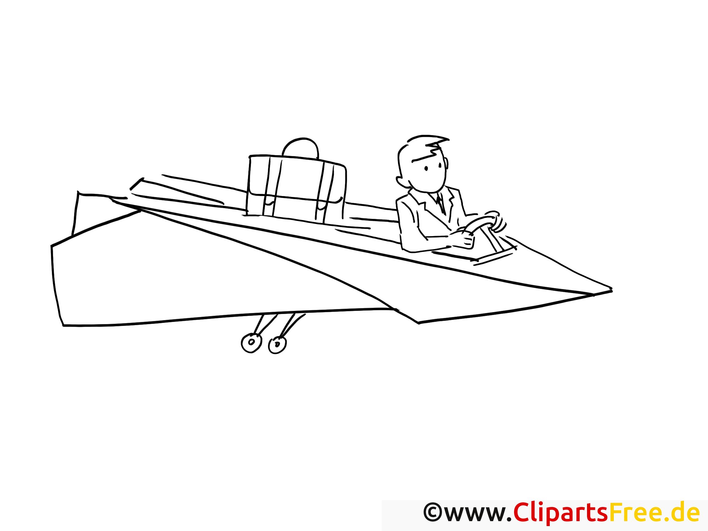 Avion en papier dessin – Coloriage travail à télécharger