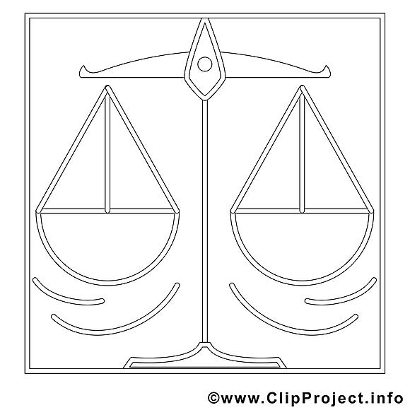 Balance clipart – Travail dessins à colorier