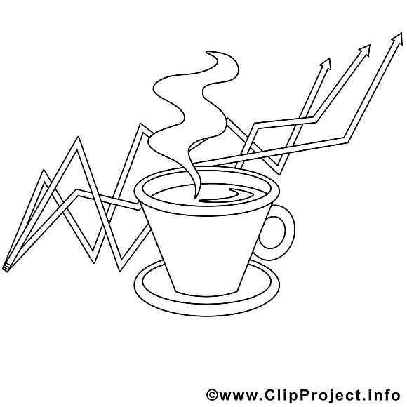 Café dessins gratuits – Travail à colorier