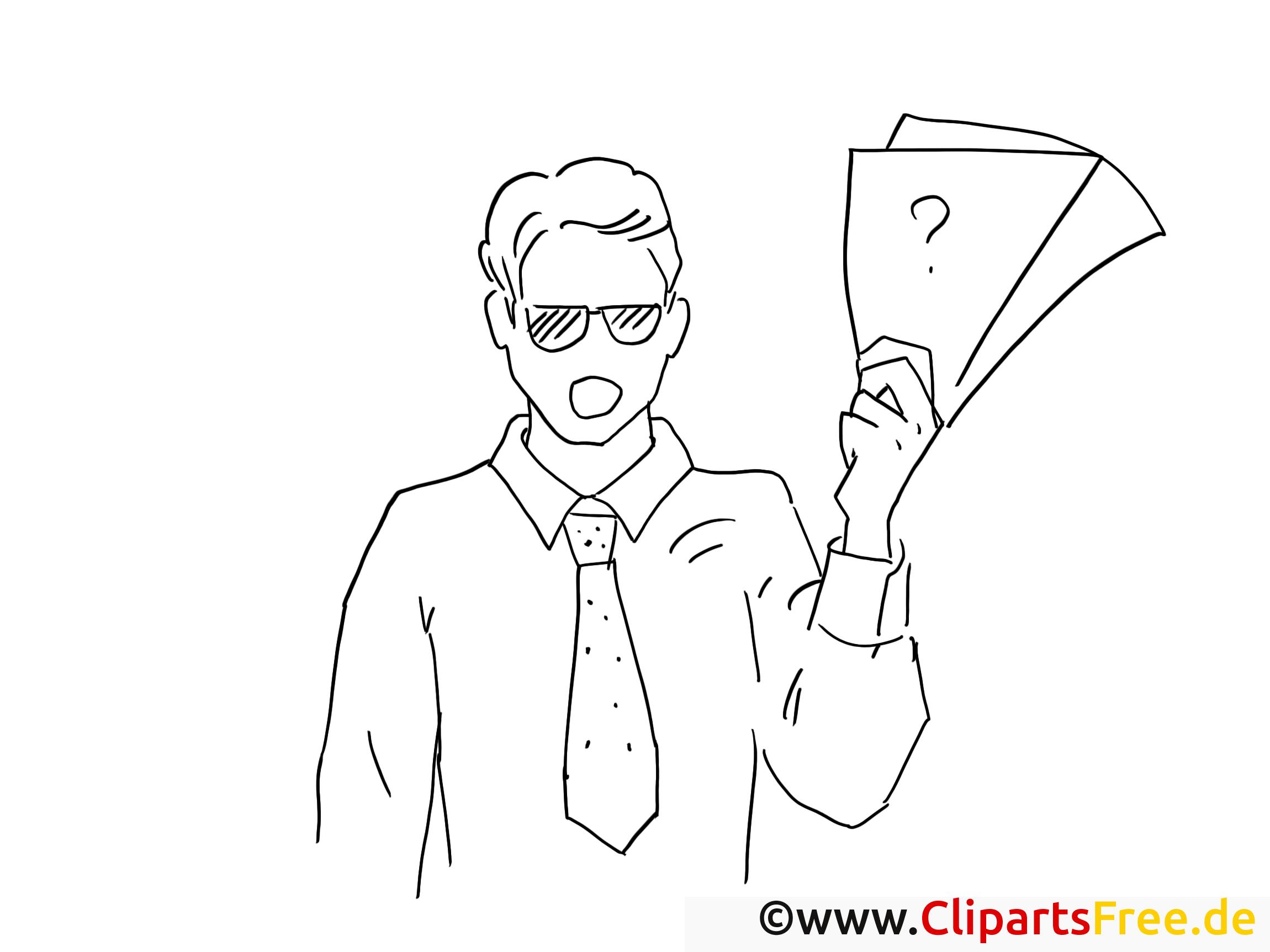 Chef clipart – Travail dessins à colorier