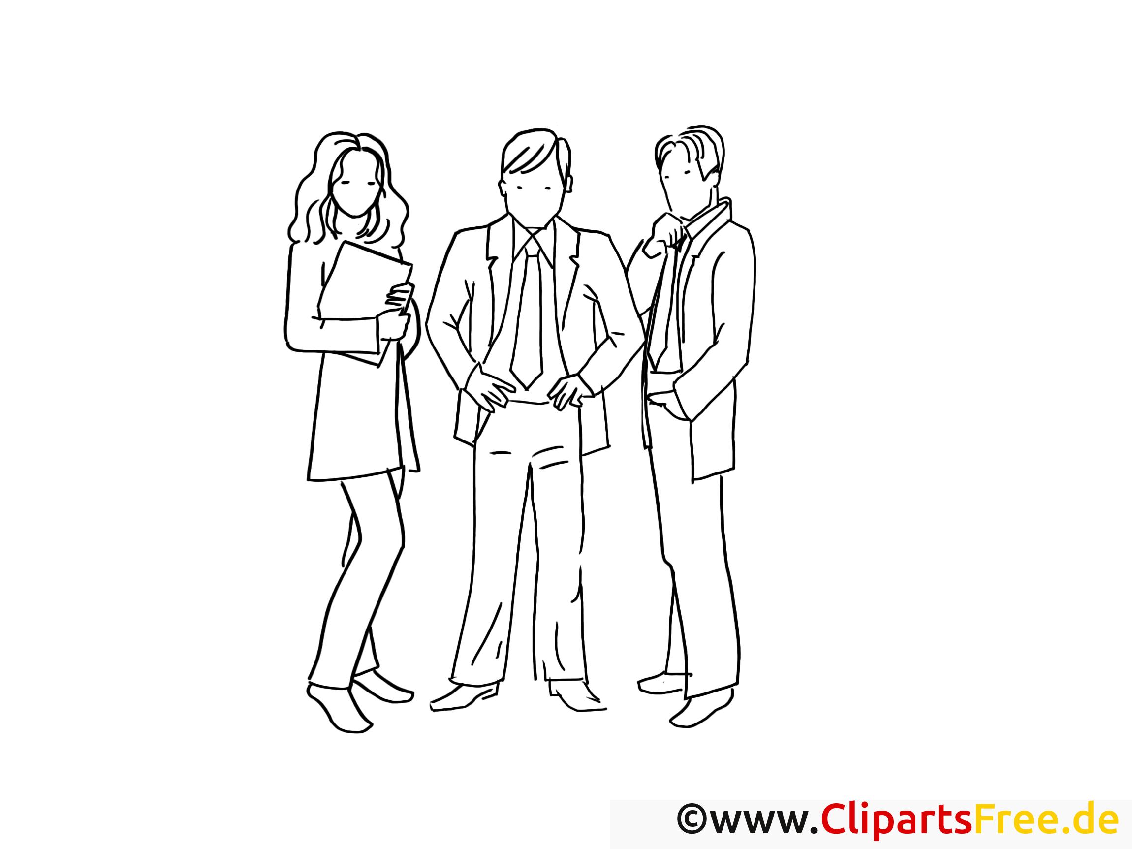 Collegues illustration – Travail à imprimer